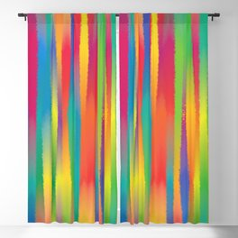 Paint Yourself In Stripe Blackout Curtain