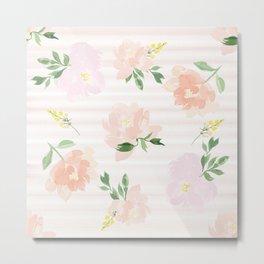 Gigi Collection - Peach Peony Metal Print