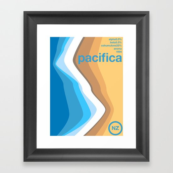 pacifica single hop Framed Art Print
