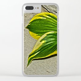 Gilded Leaves Clear iPhone Case