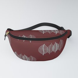 Red Leaf Pattern Fanny Pack