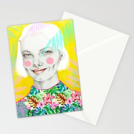 Lin-Yellow Stationery Cards