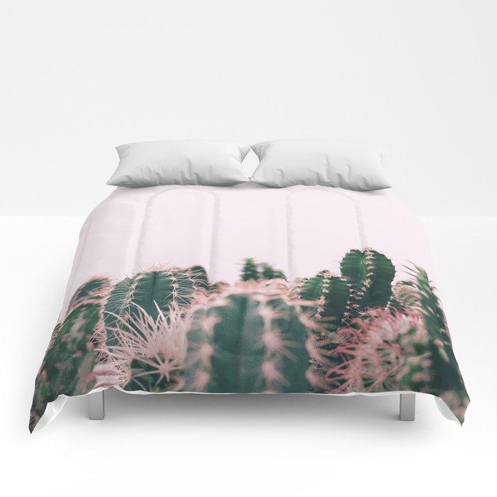 Pink Blush Cactus Comforters