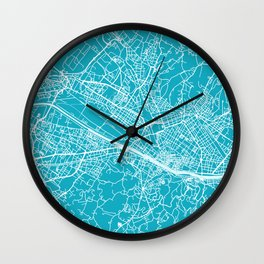Florence Map | Italy | Aqua | More Colors, Review My Collections Wall Clock