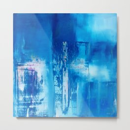 Concept in Blue Metal Print