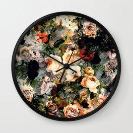 Floral Pattern RPE120 Wall Clock
