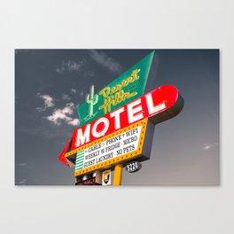 Desert Hills Motel - Grey Sky - Route 66 Tulsa Oklahoma Canvas Print