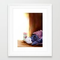 eeyore Framed Art Prints featuring eeyore by Julian