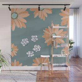 Lazy Daisies Wall Mural