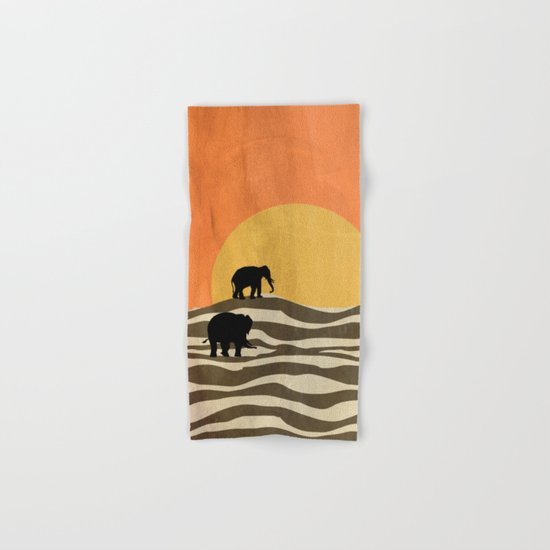African Sunset Hand & Bath Towel