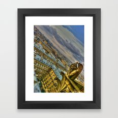 Gargoyle of the Notre Dame, Paris, France Framed Art Print
