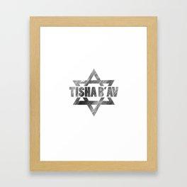 Tisha B'Av - commemorate about Jewish ancestors sacrifice Framed Art Print