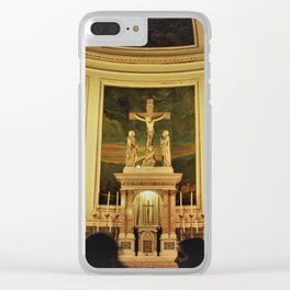 Yellow Church Clear iPhone Case