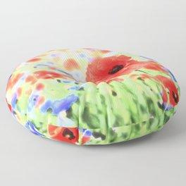 poppies art 004 Floor Pillow