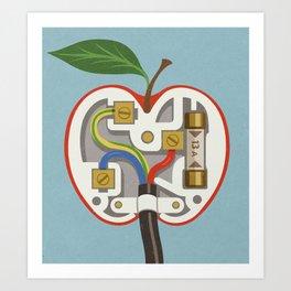 Apple plug Art Print