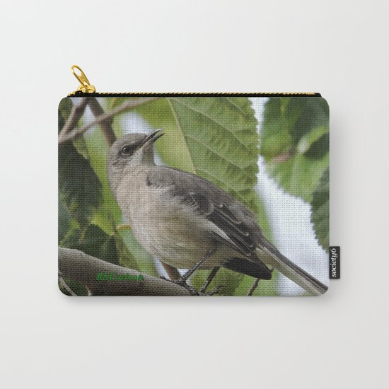 Mockingbird in a Mulberry Tree Carry-All Pouch