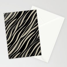 Tiger abstract striped pattern . Stationery Cards