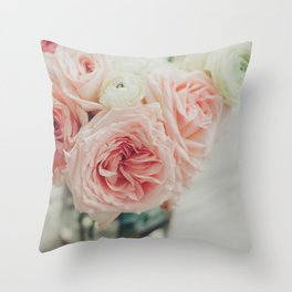 English Roses No. 1 Throw Pillow