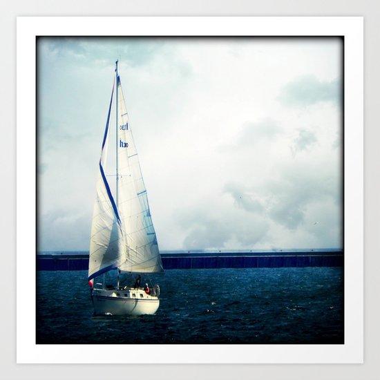 Milwaukee Sailing Art Print
