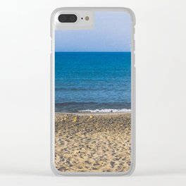 Fishpoles on Beach Clear iPhone Case