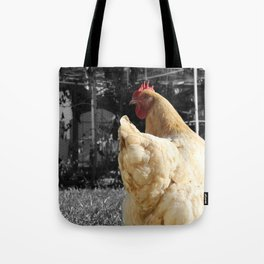 Another Dramatic Chicken Tote Bag