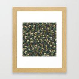 Skull Camo WOODLAND Framed Art Print