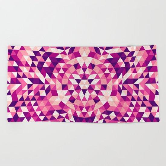 Triangle mandala 1 Beach Towel
