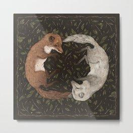 Foxes Metal Print