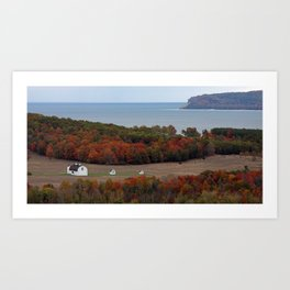 Day Farm Amidst Northern Michigan Fall Colors Art Print