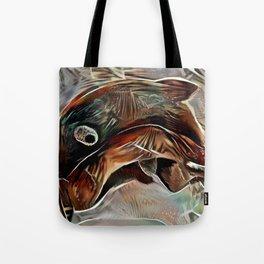 Brown Fish Tote Bag