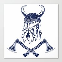 viking Canvas Prints featuring Viking by Spiro Vasilevski