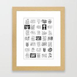 Thirty Five Dungeon Maps Framed Art Print