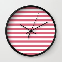Large Nantucket Red Horizontal Sailor StripesLarge Nantucket Red Horizontal Sailor Stripes Wall Clock