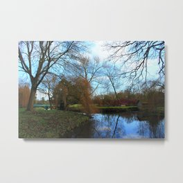 Deserted Old River Boathouse Metal Print