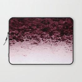 Burgundy CrYSTALS Ombre Gradient Laptop Sleeve