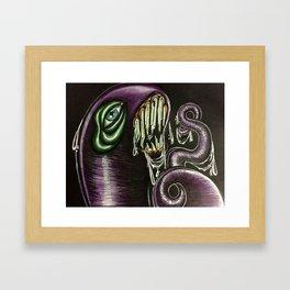 Evil Worm Framed Art Print
