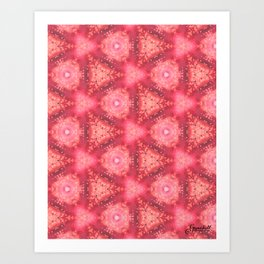 Lullaby Red Art Print