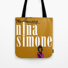 1963 African American Classic Carnegie Hall Nina Simone Gig Concert Poster Tote Bag