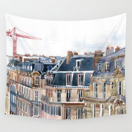 Roofs of Paris Wall Tapestry