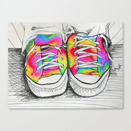 Walk a Mile in my Chucks Canvas Print