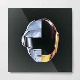 Daft Punk Polygon Metal Print