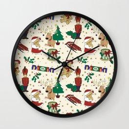 Christmas deer,bear,cat and Nutcracker SB14 Wall Clock