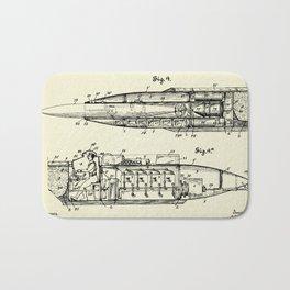 Submarine Torpedo Boat 03-1910 Bath Mat