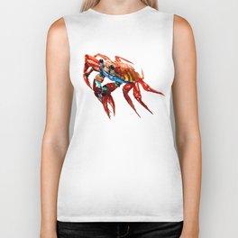 Crab, Sea World Crab Artwork, red crab, restaurant kitchen sea world art Biker Tank