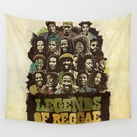 reggae Wall Tapestries featuring Legends of Reggae Poster by Panda