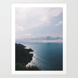 Donostia / San Sebastián Coast, Spain Art Print