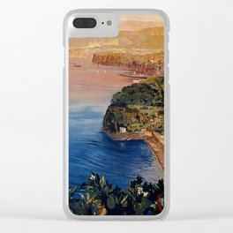 Italy Sorrento Bay of Naples vintage Italian travel Clear iPhone Case