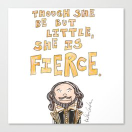 Shakespeare Quote Canvas Print