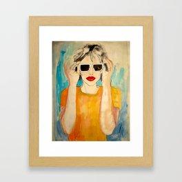 Pixel Sunglasses 01 Framed Art Print