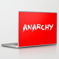 sons of anarchy Laptop & iPad Skins featuring ANARCHY by lucborell